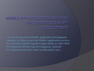 iPhone App Development India solutions