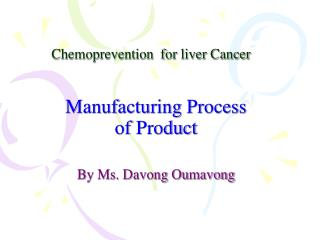 Chemoprevention  for liver Cancer
