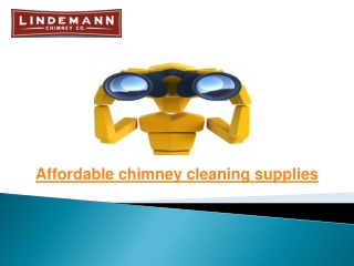 Chimney Cleaning Tools supplies