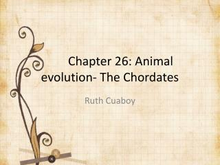 Chapter 26: Animal evolution- The Chordates