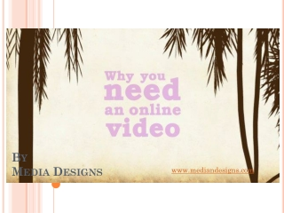 Why online videos for your business