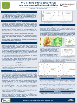 meteodyn WT CFD modeling of forest canopy flows: input param