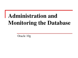 installing oracle software and creating a database