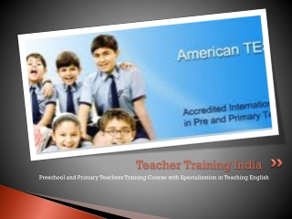 Teacher Training India