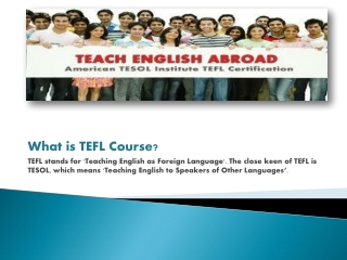TEFL Course Online