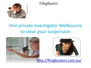 Private Detectives Melbourne