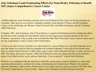 jody scheiman leads fundraising efforts for team bexley, pel