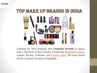 Top Beauty care brands in India