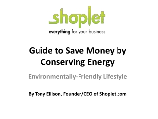 Guide to Save Money by Conserving Energy