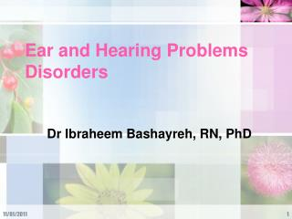 Ear and Hearing Problems Disorders