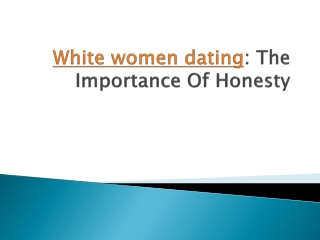 White women dating