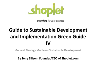 Guide to Sustainable Development and Implementation Green Gu