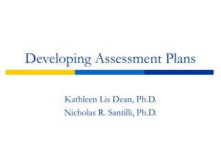 Developing Assessment Plans