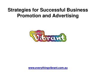 Strategies for Successful Business Promotion and Advertising