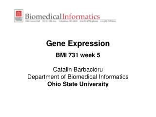 Gene Expression BMI 731 week 5
