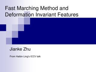 Jianke Zhu   From Haibin Ling s ICCV talk