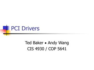 PCI Drivers