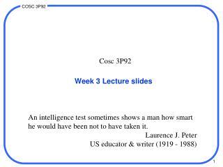 Week 3 Lecture slides