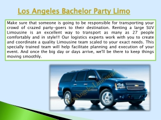 Los Angeles Corporate event Limousine Service