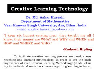 Creative Learning Technology
