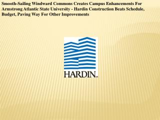 Smooth-Sailing Windward Commons Creates Campus Enhancements