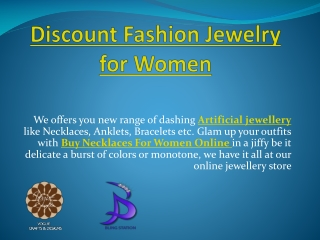 Discount Fashion Jewelry for women