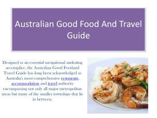 Australia Food Guide Perth Restaurants