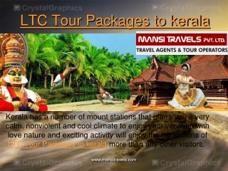 LTC Tour Packages to kerala