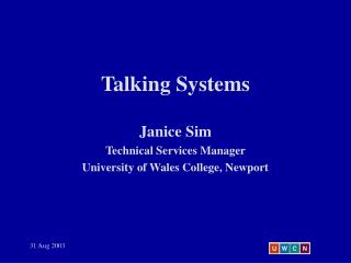 Talking Systems