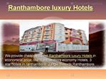 Ranthambore luxury Hotels