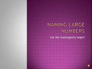 Naming Large Numbers