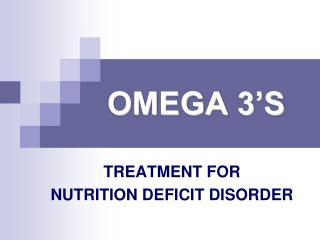 OMEGA 3 S