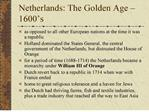 netherlands: the golden age