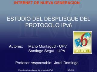 Autores: Mario Montagud - UPV   Santiago Segu  - UPV