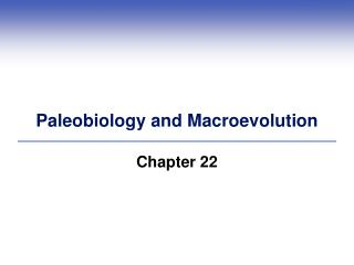 Paleobiology and Macroevolution
