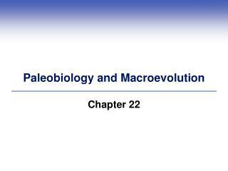 Paleobiology and Macroevolution