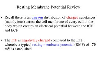 Resting Membrane Potential Review