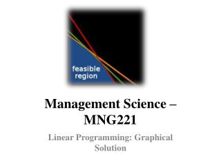 Management Science   MNG221