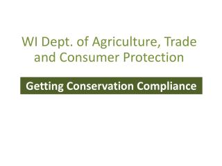 WI Dept. of Agriculture, Trade and Consumer Protection