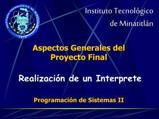 Instituto Tecnol gico  de Minatitl n