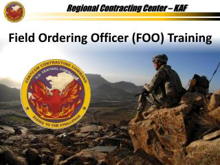 Field Ordering Officer FOO Training