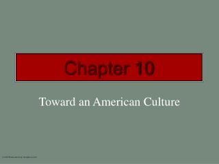 Toward an American Culture