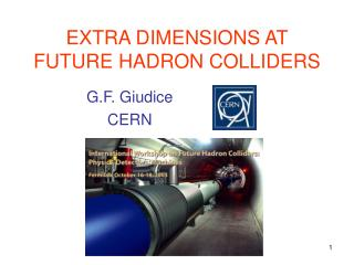 EXTRA DIMENSIONS AT FUTURE HADRON COLLIDERS