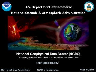 U.S. Department of Commerce National Oceanic  Atmospheric Administration     National Geophysical Data Center NGDC Stewa