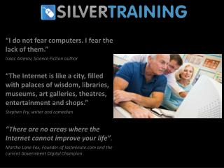 I do not fear computers. I fear the lack of them.   Isaac Asimov, Science Fiction author    The Internet is like a city