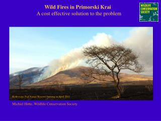 Wild Fires in Primorski Krai    A cost effective solution to the problem