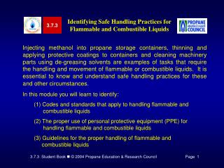 Identifying Safe Handling Practices for Flammable and Combustible Liquids