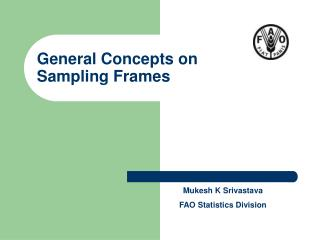 General Concepts on Sampling Frames