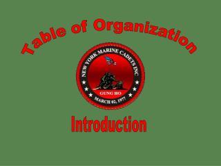 Table of Organization