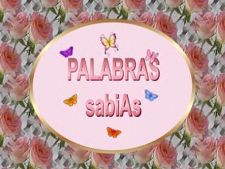 PALABRAS sabiAs